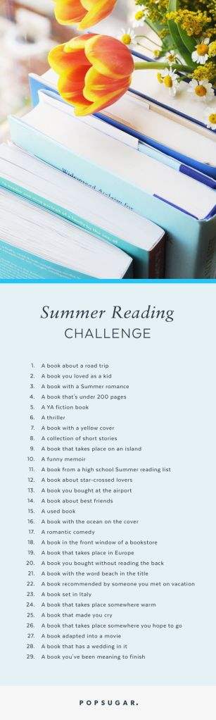 Pop Sugar Summer Reading Challenge 2016
